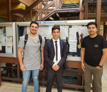 David Guajardo y Camilo Contreras finished their work related to the validation of a new algorithm for positive and negative sequence identification.